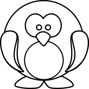 Penguin Outline clip art.