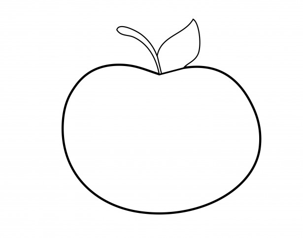 Apple Outline Clipart Free Stock Photo.