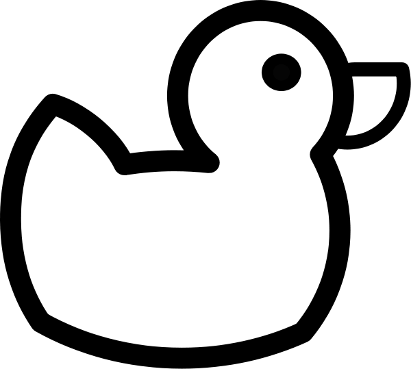 Duck outline clipart.