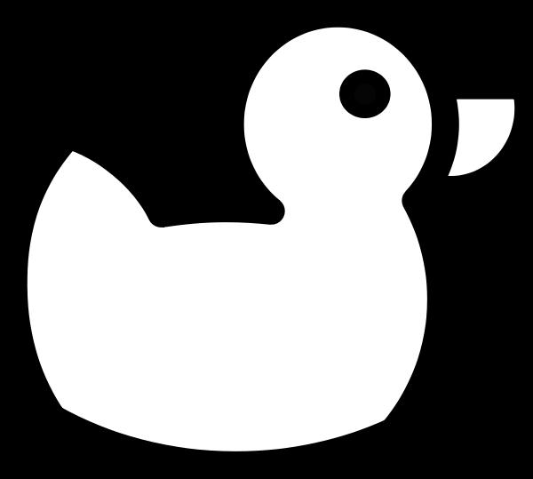 Duck outline clipart.