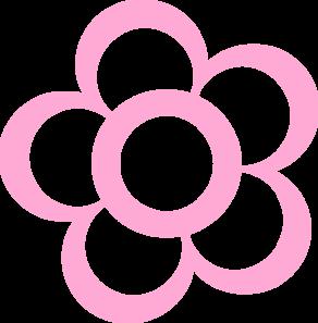 Pink Flower Outline Clip Art at Clker.com.