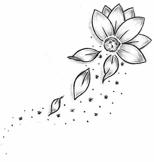 17 best ideas about Flower Outline Tattoo on Pinterest.
