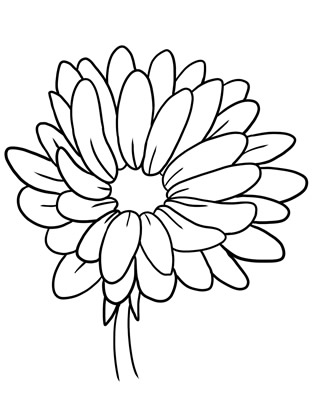Clipart Of Flowers Outline.