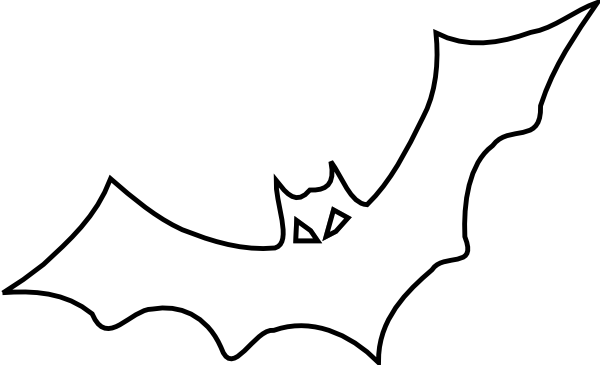 Bat Outline Clip Art at Clker.com.