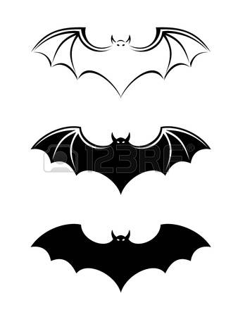 1,837 Bat Outline Stock Vector Illustration And Royalty Free Bat.