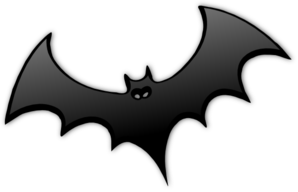 Bat Clipart Black And White.
