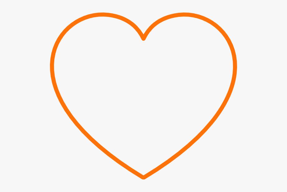 Orange Heart Cliparts.