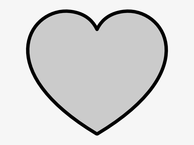 How To Set Use Solid Gray Heart With Black Outline.