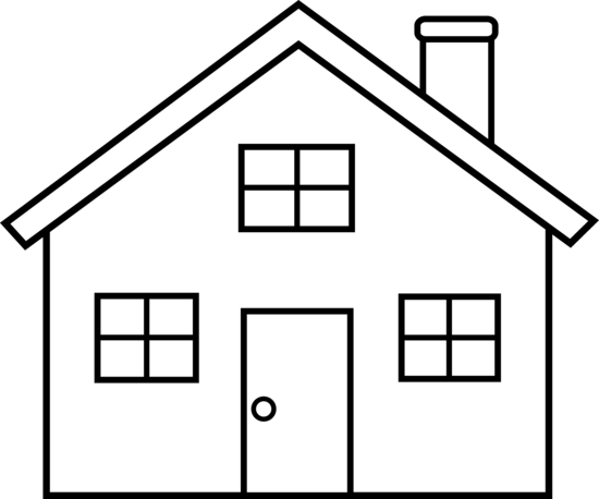 House Outline Clipart Black And White.