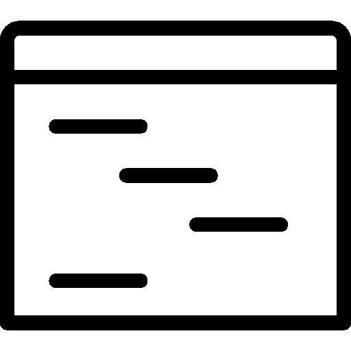 Programming Outline Icon.
