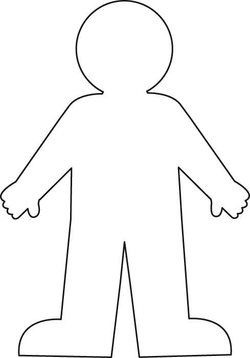 Free Human Body Outline Printable, Download Free Clip Art.