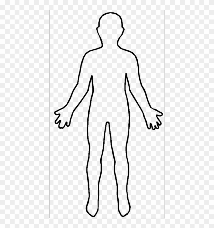 Human Body Outline Clipart (#1417295).