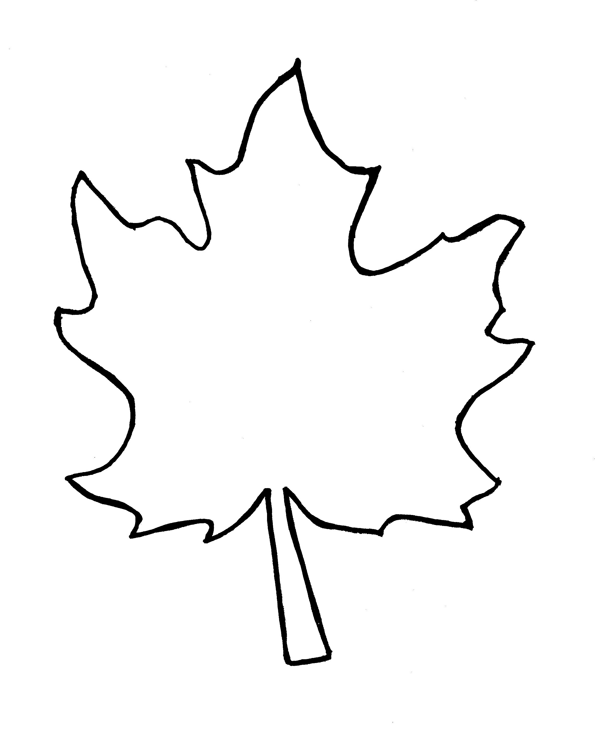 Free Leaf Cliparts Outline, Download Free Clip Art, Free.