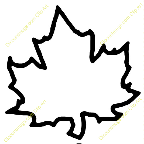 453 Leaf Outline free clipart.