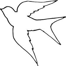 outline of birds clipart #17