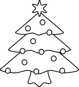 Christmas Tree Outline Clip Art.