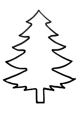 Outline Of Christmas Tree Clip Art.