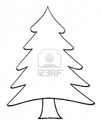 Clip Art Christmas Tree Outline.
