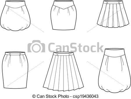 EPS Vector of Skirt.