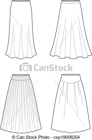 Clipart Vector of Skirt.