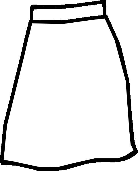 White Skirt Clip Art at Clker.com.