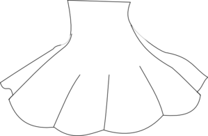 Skirt Outline Clip Art at Clker.com.