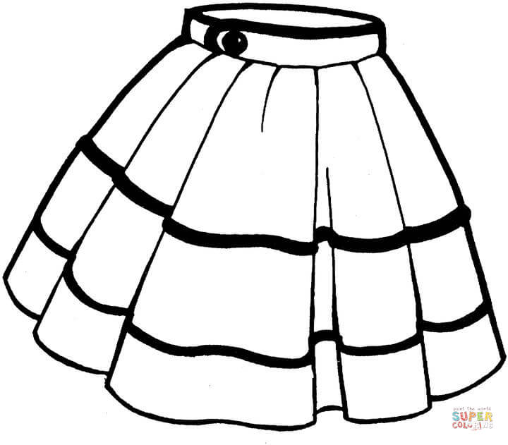 Skirt coloring page.
