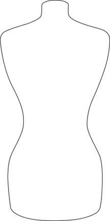 Dress Outline Coloring.