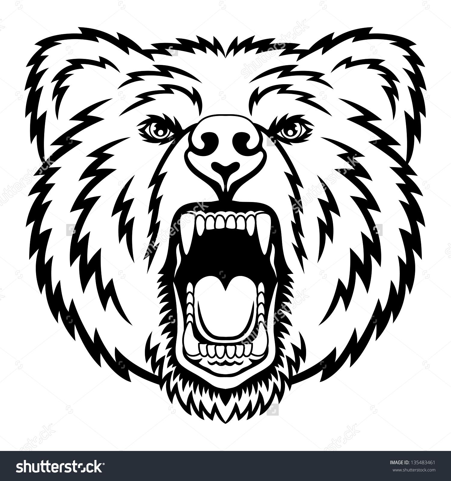 Bear Head Logo This Vector Illustration Stock Vector 135483461.