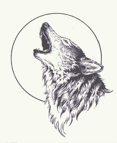 Howling Wolf Tattoo ❤ liked on Polyvore featuring accessories i.
