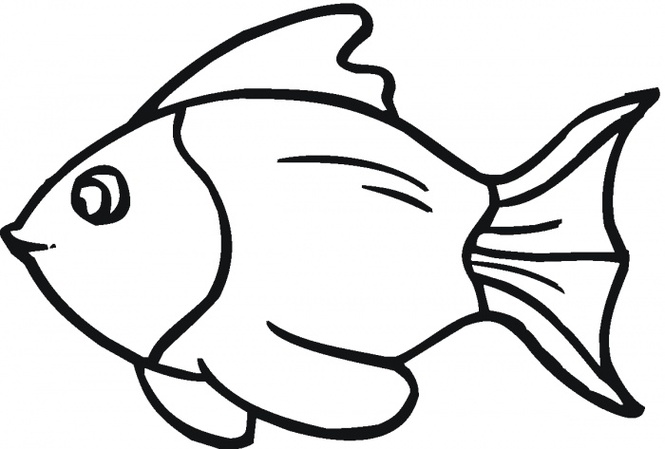 Fish outline outline of fish clipart 2.