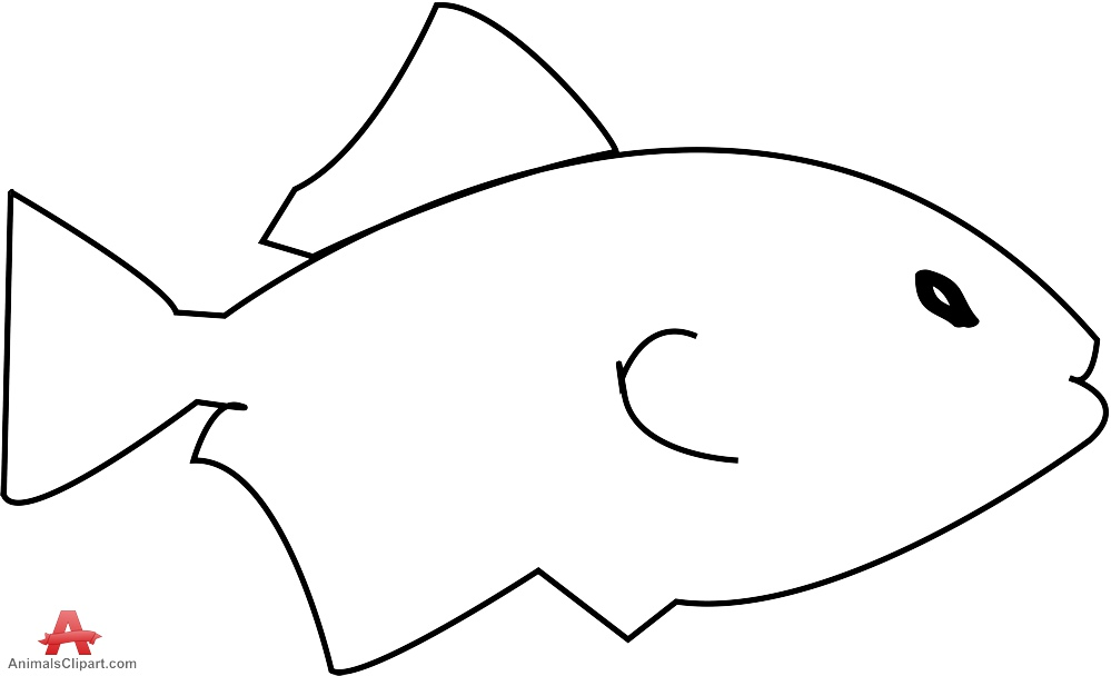 Outline Fish Clipart.