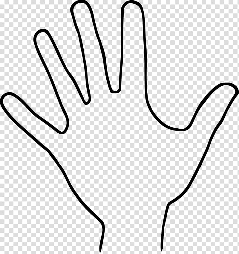 Hand Outline Drawing , hand drawing transparent background.