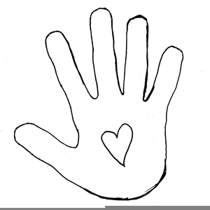 Outline Of A Hand Clipart.
