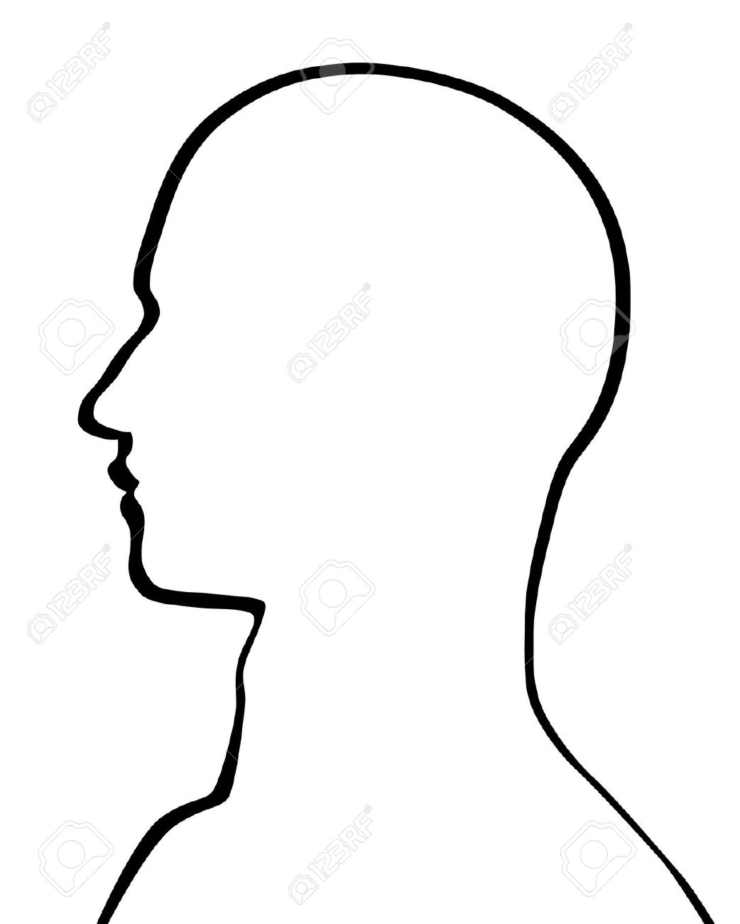 Head Clipart Outline.