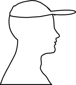 Head Outline With Hat Clip Art at Clker.com.