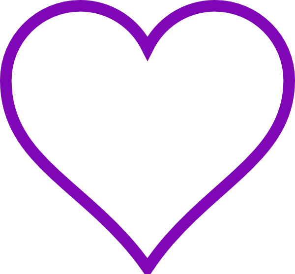 Purple Heart Outline Clip Art Vector Online Royalty Free.