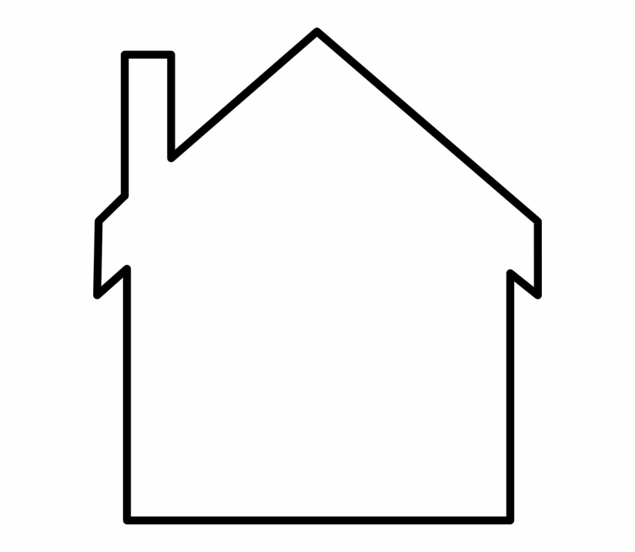House Home White Shapes Chimney Roof.