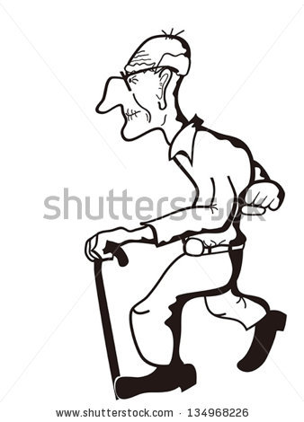 Man With Cane Stock Images, Royalty.