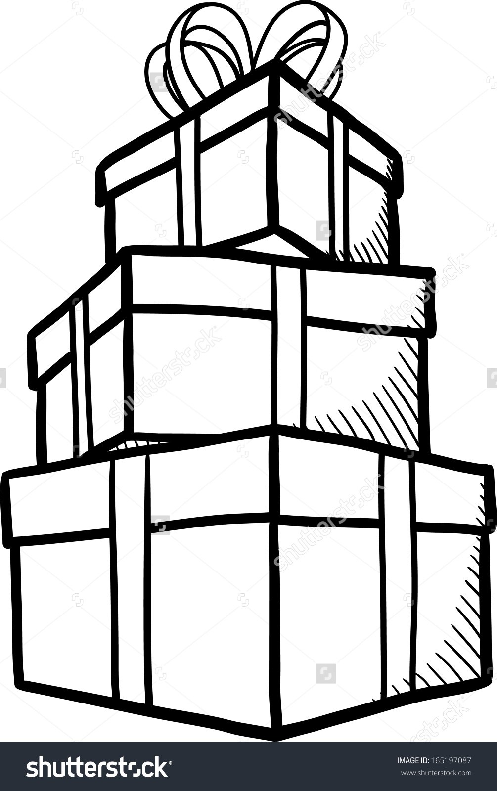 Outline of present clipart clipground