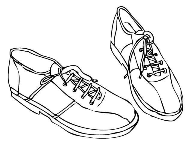 Outline Of Shoe.