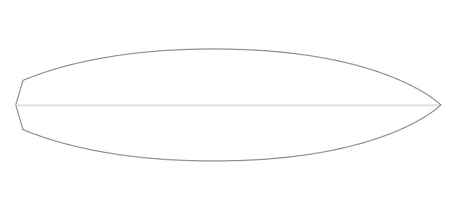 outline of surfboard clipart clipground