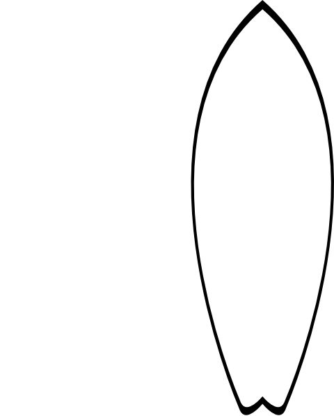 making a surfboard template - outline of surfboard clipart clipground