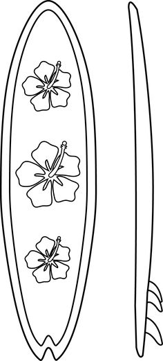 surf board coloring pages.