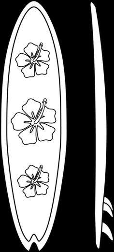 Surfboard pattern. Use the printable outline for crafts, creating.
