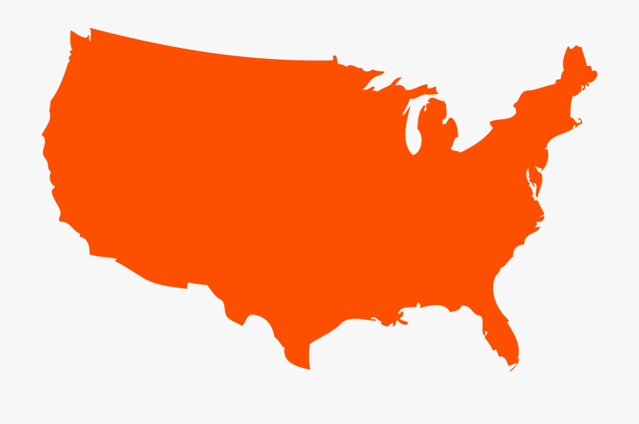 United States Clipart Outline.