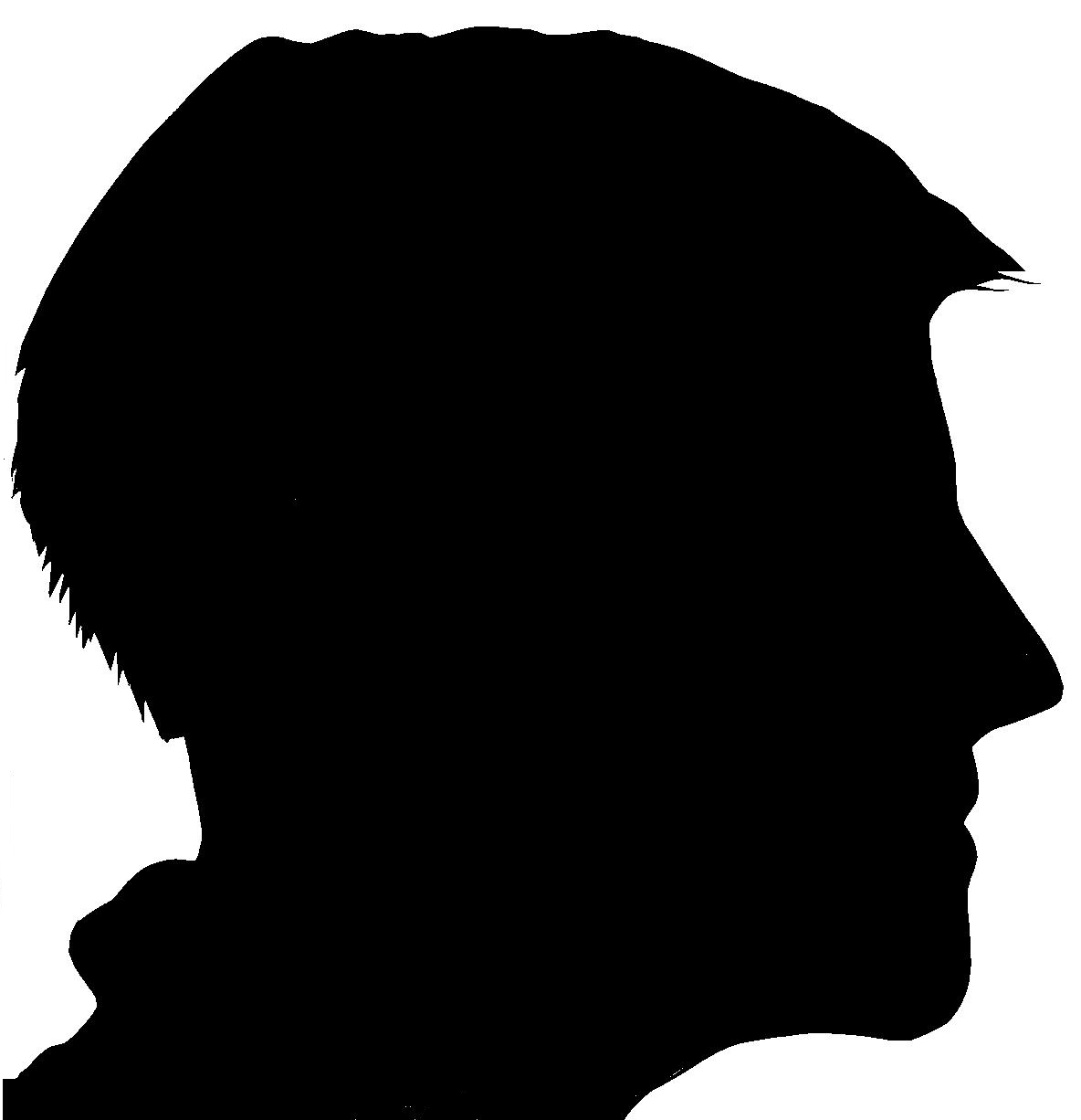 Human shadow clipart head protrait.