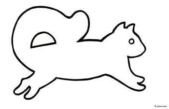 Squirll Outline Template Clipart.
