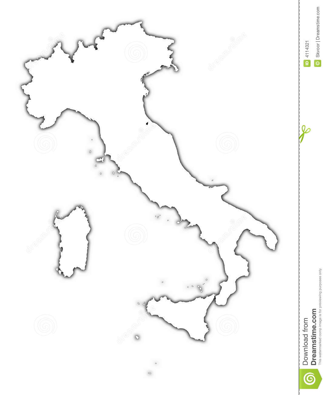 Italy Outline Clipart.