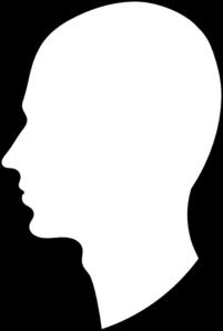 Human shadow clipart head protrait.